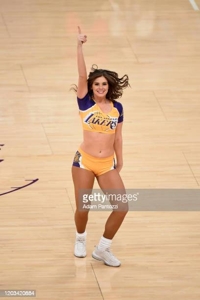 Laker Girl performs during the game against the New Orleans Pelicans on February 25, 2020 at STAPLES Center in Los Angeles, California. NOTE TO USER:...