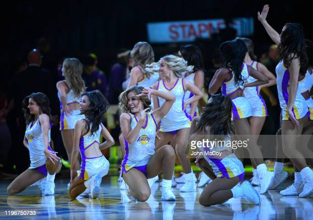 Laker Girls during Los Angeles Lakers game against the Dallas Mavericks at Staples Center on December 29, 2019 in Los Angeles, California. NOTE TO...
