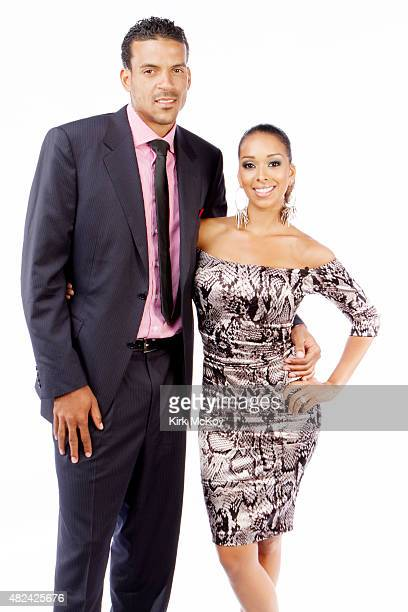 Laker Matt Barnes and wife Gloria Govan are photographed for Los Angeles Times on August 29 2011 in Los Angeles CA PUBLISHED IMAGE CREDIT MUST BE...