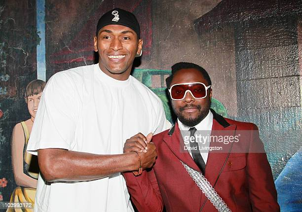 Laker Ron Artest and recording artist will.i.am attend the 10th Annual BMI Urban Awards at the Pantages Theatre on September 10, 2010 in Los Angeles,...