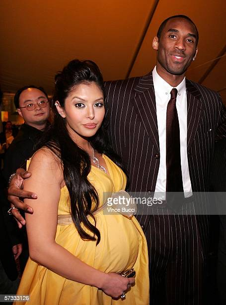 Lakers basketball player Kobe Bryant and his wife Vanessa pose at the Los Angeles Lakers 3rd annual Mirage Las Vegas Casino Night and Bodog Celebrity...