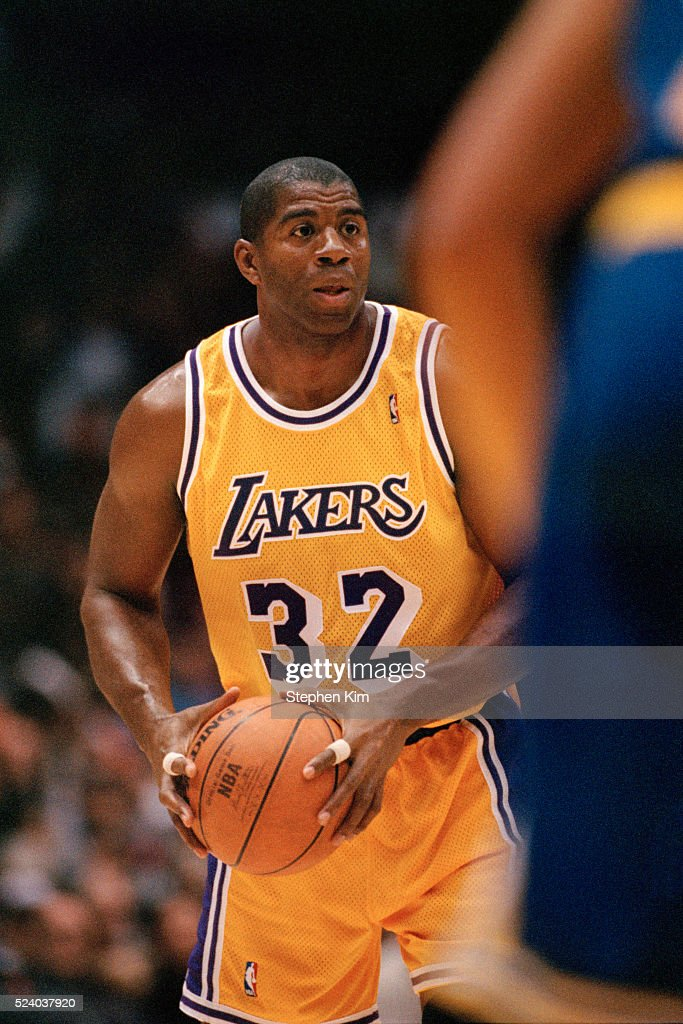 Basketball Lakers Player Magic Johnson : News Photo