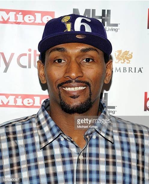 Lakers basketball player Ron Artest attends the Ribbon Cutting Ceremony for the Bay Cities Kitchens Grand Opening at Bay Cities Kitchens and...