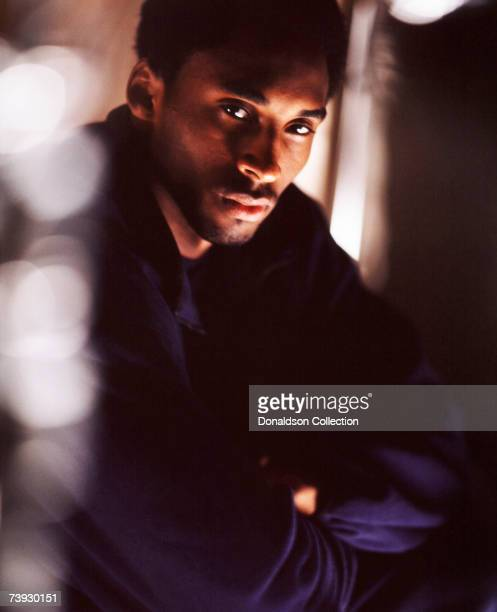 Lakers basketball star Kobe Bryant poses for a magazine shoot held in 1999 at the Coliseum in Los Angeles California