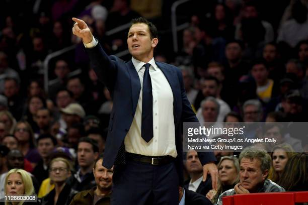 Lakers head coach Luke Walton during their game against the Clippers at the Staples Center in Los Angeles Thursday Jan 31 2019