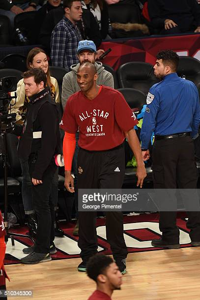 Lakers Kobe Bryant attends The 2016 NBA AllStar Game at Air Canada Centre on February 14 2016 in Toronto Canada