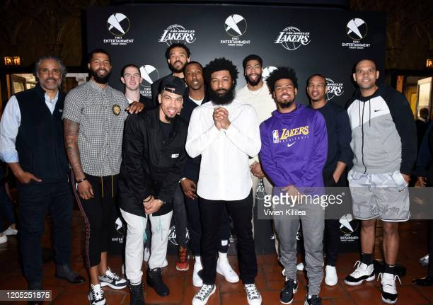 Lakers legend Rick Fox Lakers star Markieff Morris Lakers star Alex Caruso Lakers star Danny Green Lakers star JaVale McGee Lakers star Kentavious...