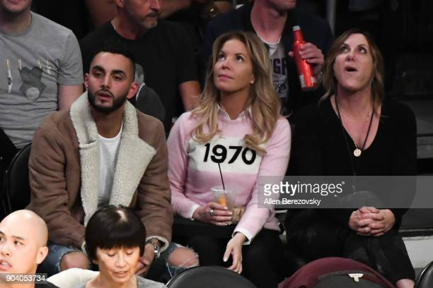 Lakers owner Jeanie Buss attends a basketball game between the Los Angeles Lakers and the San Antonio Spurs at Staples Center on January 11 2018 in...