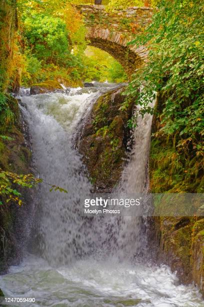 lakes district waterfall - keswick stock pictures, royalty-free photos & images