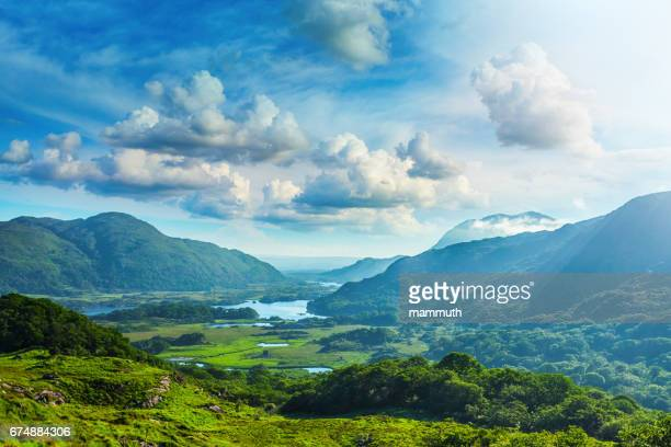 lakes of killarney along the ring of kerry, county kerry, ireland - ireland stock pictures, royalty-free photos & images