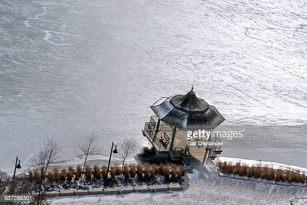 Lakeside Gazebo on Frozen Water