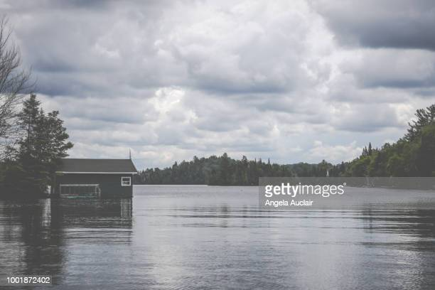 Lakeside in the Laurentians, Quebec, Canada