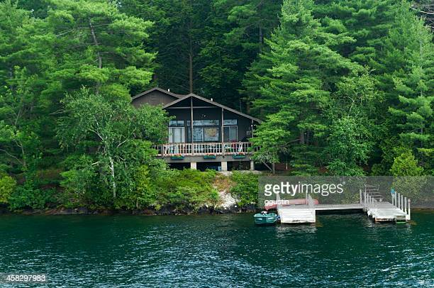 lakeside living in the adirondack mountains - lake george new york stock pictures, royalty-free photos & images