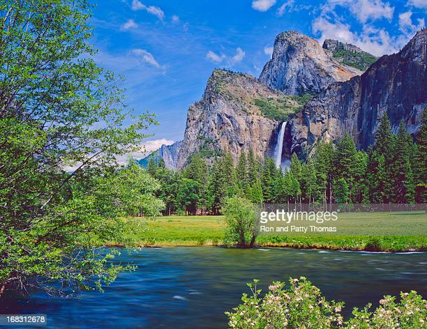 Lakeside view of Yosemite National Park in California, USA