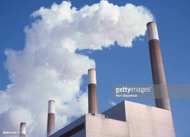 lakeview generating station - chimney stock pictures, royalty-free photos & images