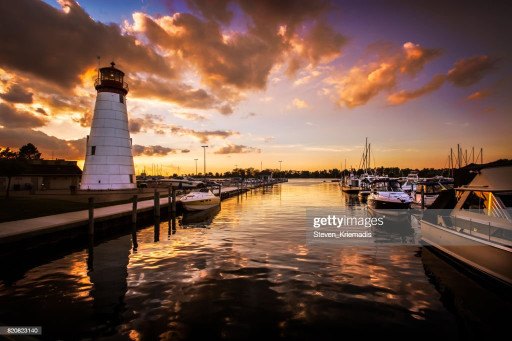 Lakeview Marina in Windsor, Ontario, Canada : Stock Photo