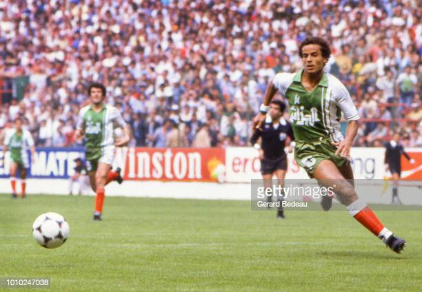 Lakhdar Belloumi of Algeria during the World Cup match between Germany RF and Algeria at El Molinon Gijon Spain on June 16th 1982