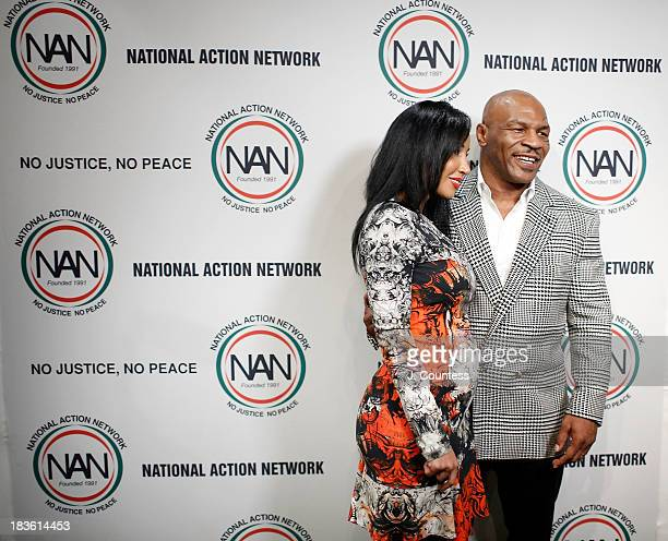 Lakiha Spicer and Former Boxing champion Mike Tyson attend the 4th Annual Triumph Awards at Rose Theater Jazz at Lincoln Center on October 7 2013 in...