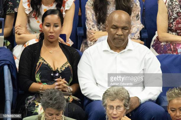 Lakiha Spicer and Mike Tyson at the opening night ceremonies for the US Open held at the USTA Tennis Center in Flushing Meadows Corona Park on August...