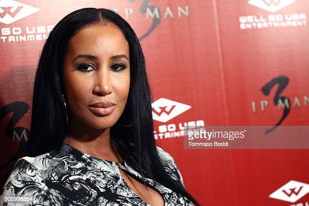 """Lakiha Spicer attends the premiere of Well Go USA Entertainment's """"Ip Man 3"""" held at Pacific Theatres at The Grove on January 20, 2016 in Los..."""