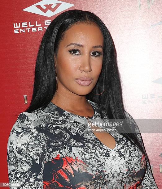 Lakiha Spicer attends the premiere of Well Go USA Entertainment's 'Ip Man 3' at Pacific Theatres at The Grove on January 20, 2016 in Los Angeles,...