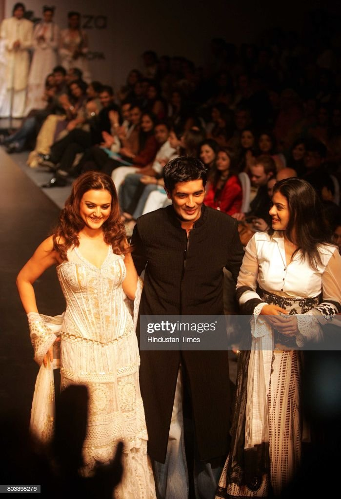 Lakme Fashion Week Manish Malhotra with Kajol and Preity Zinta