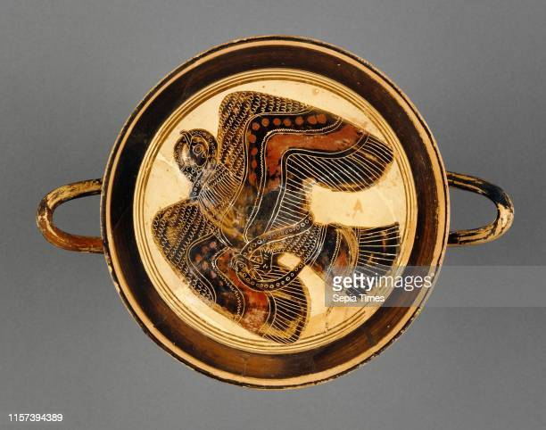 Lakonian BlackFigure Kylix Attributed to the Hunt Painter Greek active 565 530 BC Sparta Greece Lakonia Europe about 530 BC Terracotta Object H 13 to...