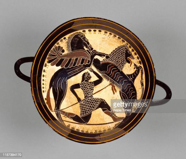 Lakonian BlackFigure Kylix detached fragments Attributed to Boreads Painter Greek active 575 550 BC Sparta Greece Lakonia Europe 570 565 BC...