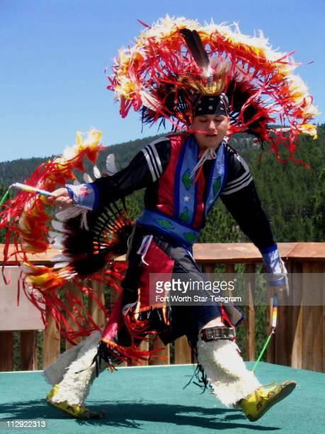 Lakota dancer Frank Whitesell of Rapid City, South Dakota, dances at the Crazy Horse Memorial.