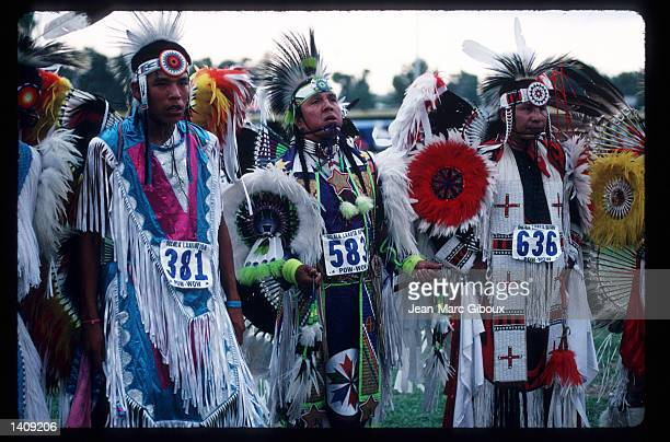 Lakota Indians participate in a powwow August 1 1996 in the Black Hills region of South Dakota Sioux tribe members continue to fight the US...