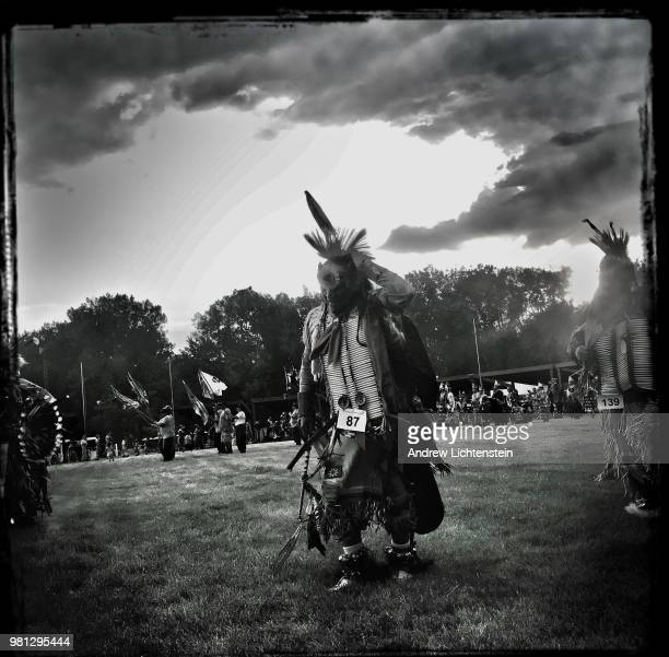 Lakota Sioux dancers perform at a tribal powwow to honor the community's veterans on June 9 2018 on the Pine Ridge Reservation in South Dakota
