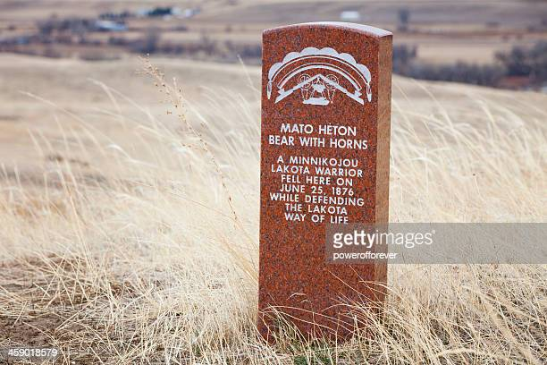 lakota warrior death markers at little bighorn battlefield monument - sioux culture stock pictures, royalty-free photos & images