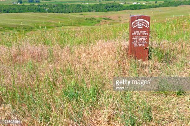lakota warrior grave marker - lakota culture stock pictures, royalty-free photos & images