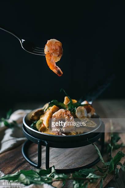 Laksa Pasta with Shrimp