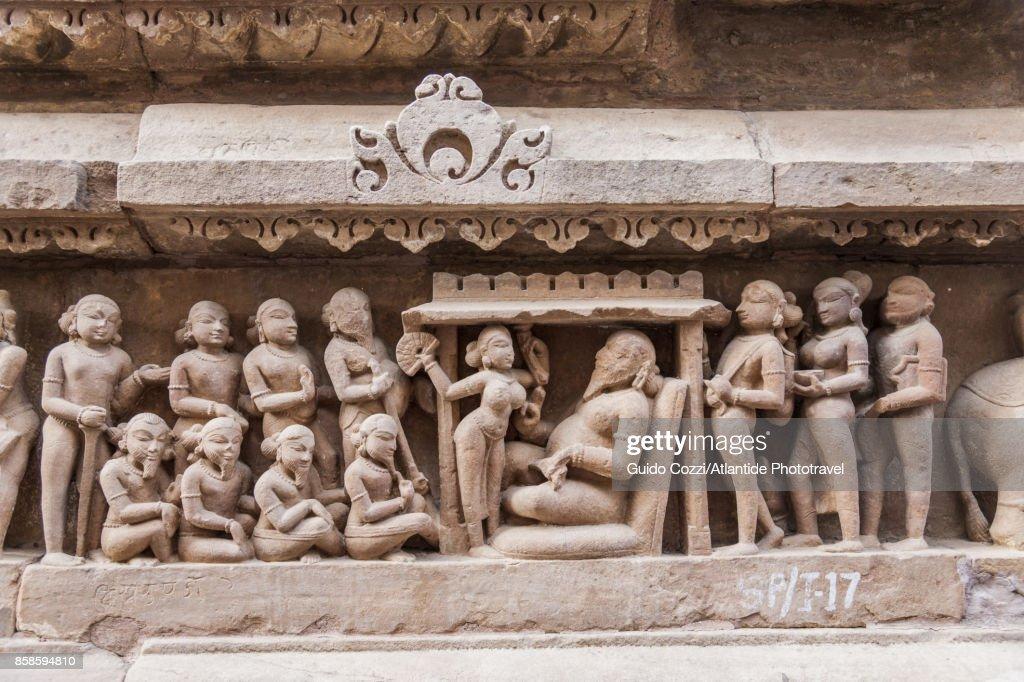 Lakshmana temple, detail : Stock-Foto