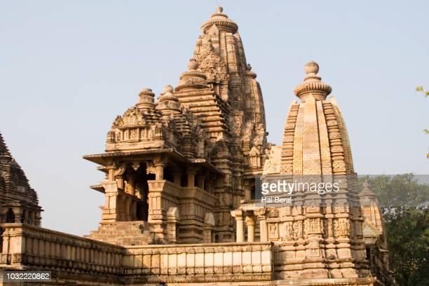 lakshmana temple - khajuraho stock pictures, royalty-free photos & images
