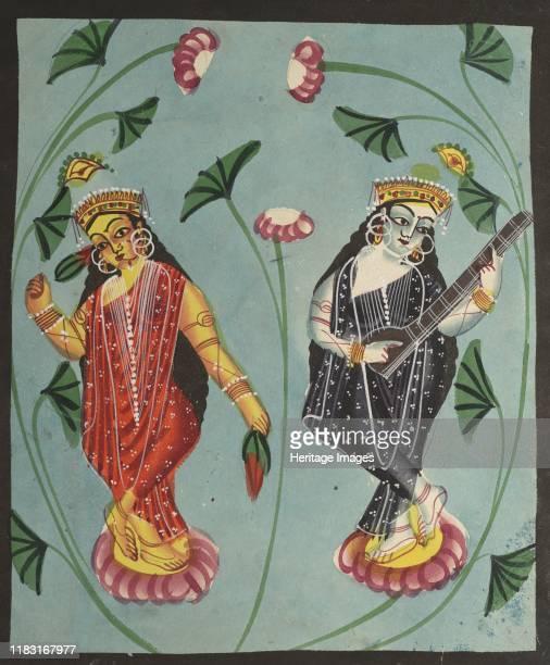 Lakshmi and Sarasvati 1800s Creator Auguste Raffet