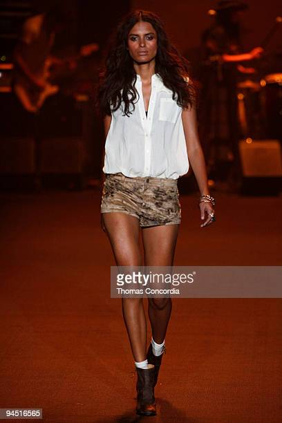 Lakshmi Menon wearing Erin Wasson x RVCA Spring 2010 during MercedesBenz Fashion Week at Bryant Park on September 11 2009 in New York City
