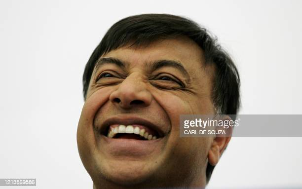 Lakshmi Mittal, Chairman and Chief Executive Officer of Mittal Steel, attends a press conference at Cavendish House, in London, 19 May 2006. Mittal...