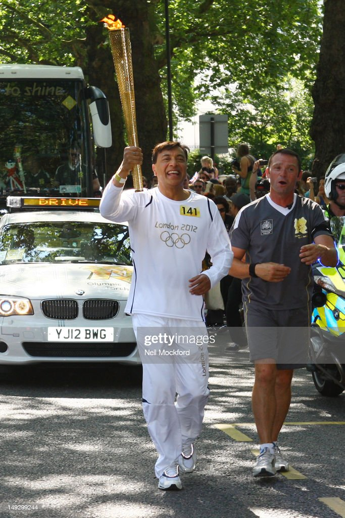 The Mittal Family Run With The Olympic Torch