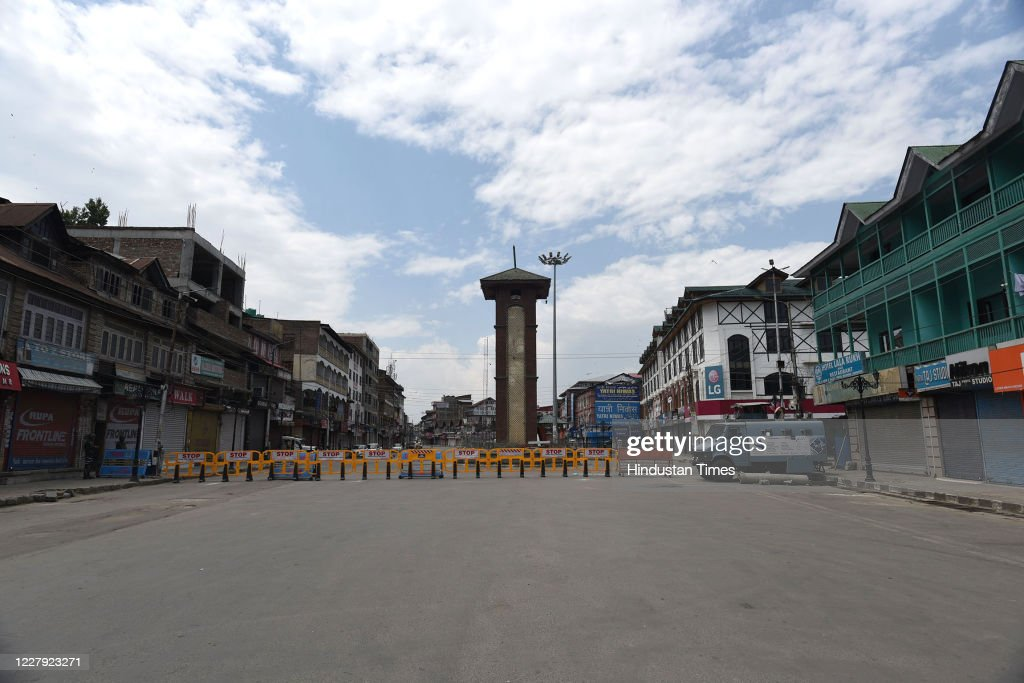 Curfew In Kashmir On The Anniversary Of Article 370 Abrogation : News Photo