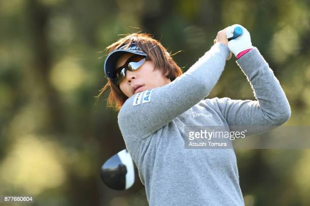 Lala Anai of Japan hits her tee shot on the 2nd hole during the first round of the LPGA Tour Championship Ricoh Cup 2017 at the Miyazaki Country Club...