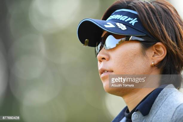 Lala Anai of Japan looks on during the first round of the LPGA Tour Championship Ricoh Cup 2017 at the Miyazaki Country Club on November 23 2017 in...