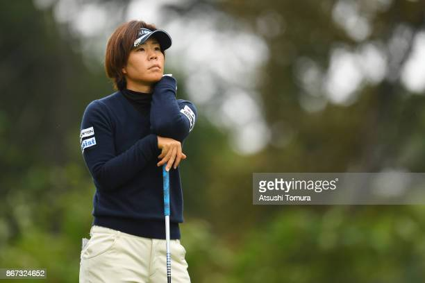 Lala Anai of Japan looks on during the second round of the Higuchi Hisako Ponta Ladies at the Musashigaoka Golf Course on October 28 2017 in Hanno...