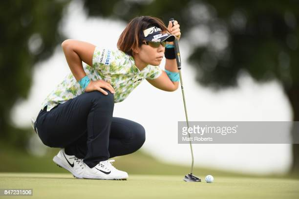 Lala Anai of Japan prepares to putt on the first green during the first round of the Munsingwear Ladies Tokai Classic 2017 at the Shin Minami Aichi...