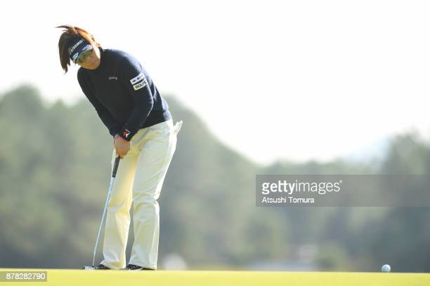 Lala Anai of Japan putts on the 13th hole during the second round of the LPGA Tour Championship Ricoh Cup 2017 at the Miyazaki Country Club on...