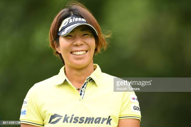 Lala Anai of Japan smiles during the first round of the Golf 5 Ladies Tournament 2017 at the Golf 5 Country Oak Village on September 1 2017 in...