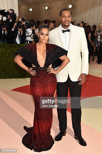 LaLa Anthony and Carmelo Anthony attend the 'Manus x Machina Fashion In An Age Of Technology' Costume Institute Gala at Metropolitan Museum of Art on...