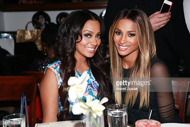 """Lala Anthony and Ciara attend the celebratory dinner in honor of the """"Got Me Good"""" video launch on October 25, 2012 at RSVP in New York City."""