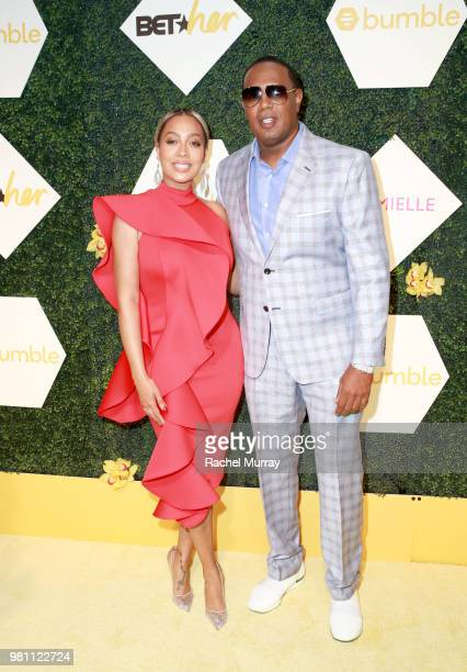 Lala Anthony and Master P arrive at the BET Her Awards Presented By Bumble at Conga Room on June 21 2018 in Los Angeles California